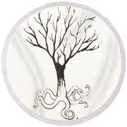 Octopus Tree Round Beach Towel