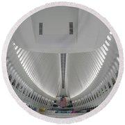Oculus World Trade Center Wtc Transportation Hub Round Beach Towel