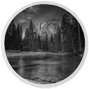 Ode To Ansel Adams Round Beach Towel