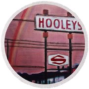 Ode To Hooley's Round Beach Towel