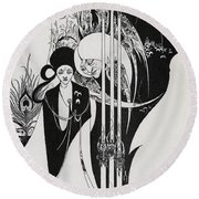 Of A Neophyte And How The Black Art Was Revealed Unto Him Round Beach Towel