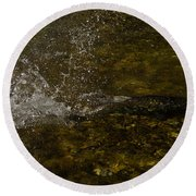 Of Fishes And Rainbows - Wild Salmon Run In The Creek Round Beach Towel