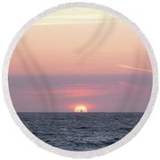 Off Into The... Round Beach Towel