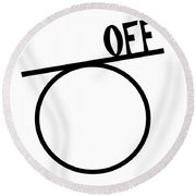 Off On A Tangent. Geometry Pun. Round Beach Towel