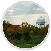 Off The Green-golf Course Round Beach Towel