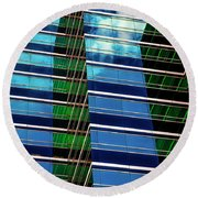 Office Abstract Round Beach Towel