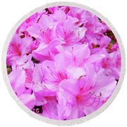 Office Art Azalea Flowers Botanical 31 Azaleas Giclee Art Prints Baslee Troutman Round Beach Towel