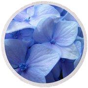 Office Art Prints Blue Hydrangea Flowers Giclee Baslee Troutman Round Beach Towel