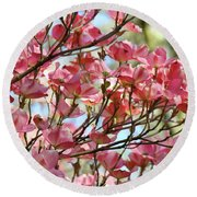 Office Art Prints Pink Flowering Dogwood Trees 18 Giclee Prints Baslee Troutman Round Beach Towel