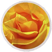 Office Art Prints Roses Orange Yellow Rose Flower 1 Giclee Prints Baslee Troutman Round Beach Towel