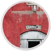 Office Door - Architecture Round Beach Towel