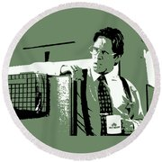 Office Space Bill Lumbergh Movie Quote Poster Series 002 Round Beach Towel