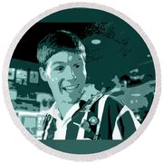 Office Space Brian At Chotchkies Movie Quote Poster Series 007 Round Beach Towel