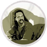 Office Space Lawrence Diedrich Bader Movie Quote Poster Series 006 Round Beach Towel