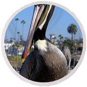 Official Greeter Photograph Round Beach Towel