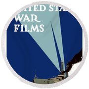 Official United States War Films Round Beach Towel by War Is Hell Store