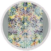 20-offspring While I Was On The Path To Perfection 20 Round Beach Towel