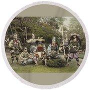Ogawa, Kazumasa Sights And Scenes In Fair Japan. Round Beach Towel