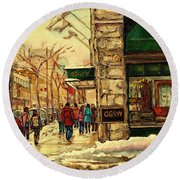 Ogilvys Department Store Downtown Montreal Round Beach Towel