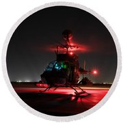 Oh-58d Kiowa Pilots Run Round Beach Towel