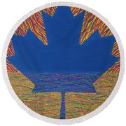 Oh Canada 2 Round Beach Towel