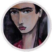 Oh For Frida Round Beach Towel