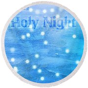 Oh Holy Night Round Beach Towel by Jocelyn Friis