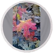 Autumn Color Round Beach Towel