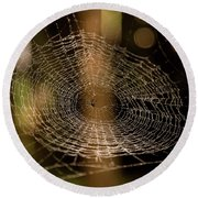 Oh What Tangled Webs.... Round Beach Towel