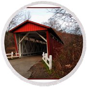 Ohio Covered Bridge Round Beach Towel