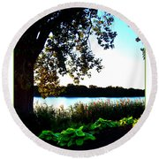 Ohio Pond Round Beach Towel
