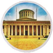 Ohio Statehouse Round Beach Towel