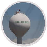 Ohio Turnpike 1 Round Beach Towel