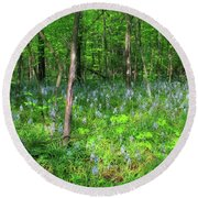 Ohio Wildflowers In Spring Round Beach Towel