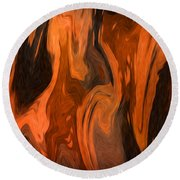 Oil Abstract Round Beach Towel