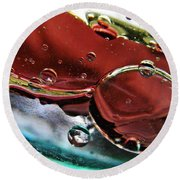 Oil And Water 23 Round Beach Towel