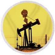 Oil Baron Tweety Round Beach Towel