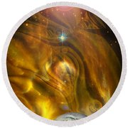 Oil From Heaven Round Beach Towel