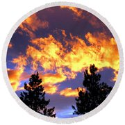 Okanagan Sunset Round Beach Towel