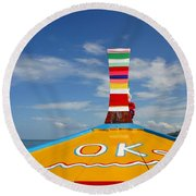 Okay In Thailand Round Beach Towel