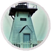 Olcott Lighthouse Round Beach Towel