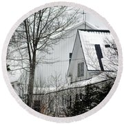 Old Andersson Farmstead Round Beach Towel