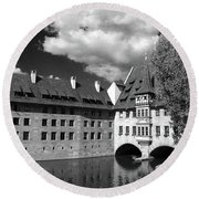 Old Architecture  Nuremberg Round Beach Towel