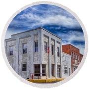 Old Bank Building - Peterstown West Virginia Round Beach Towel