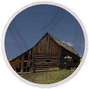 Old Barn 2 Round Beach Towel