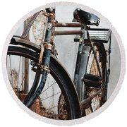 Old Bike II Round Beach Towel