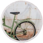 Old Bike Round Beach Towel