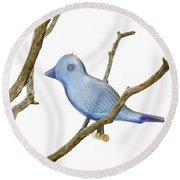 Old Bluebird Ornament Round Beach Towel