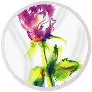 Old Blush - Rose Round Beach Towel