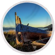 Old Boats#1 Round Beach Towel